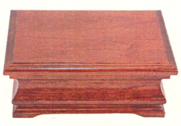 amish made solid cherry jewelry box