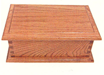 solid oak deluxe jewelry box by the amish