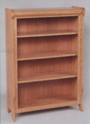 solid oak Amish made sleigh style bookcase