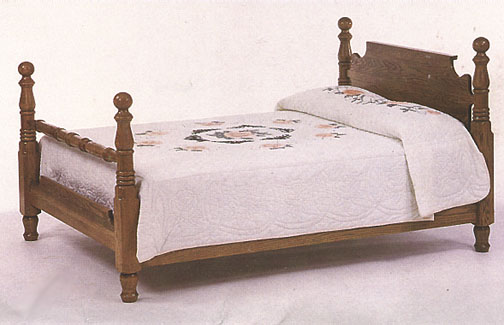 amish briarwood cannonball bed in solid oak