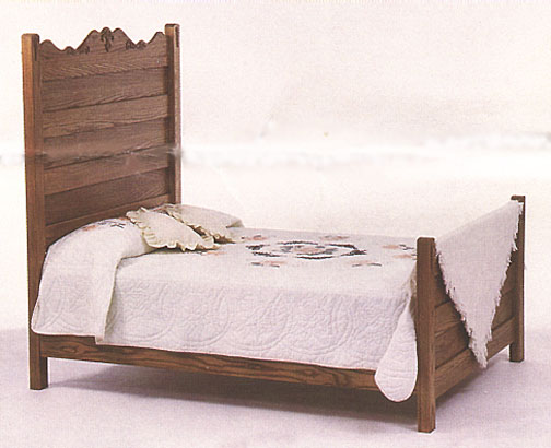 amish briarwood high back bed in solid oak