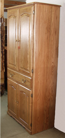Amish made solid oak pantry cabinet