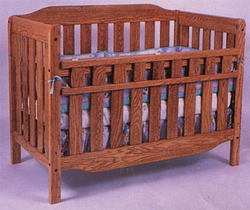 solid oak amish regular slat convertible child bed