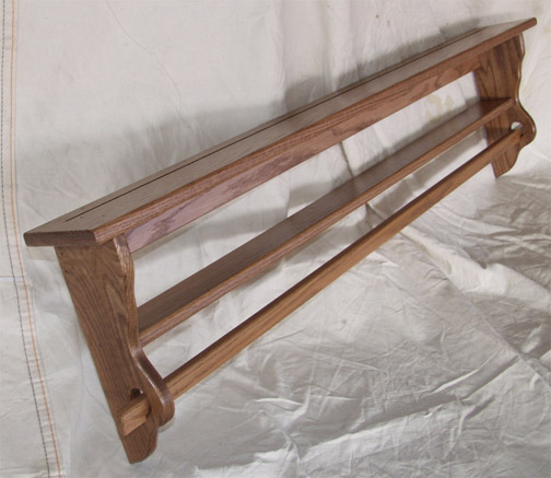 solid oak wall mounted quilt rack amish made