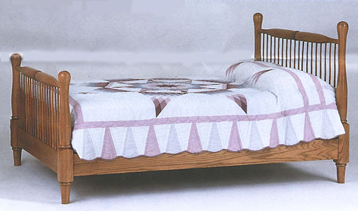 amish briarwood windsor bed in solid oak
